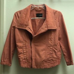 "HURLEY XS woman's jean jacket in ""Coral/orange"""